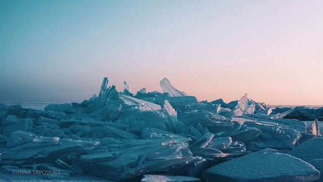 Магия льда: замерзший Капшагай