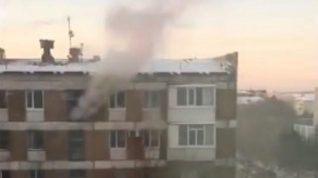 Видео: Пожар произошёл в центре Костаная. Люди спасались в легкой одежде