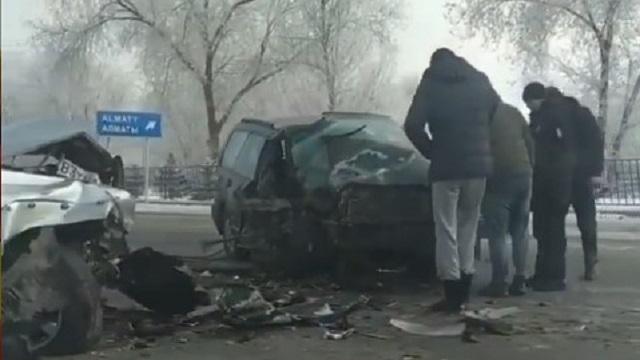 ДТП в Каскелене: Оба водителя иномарок в реанимации