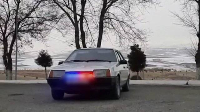 Казахстанец разъезжал на машине со спецсигналами оперативных служб