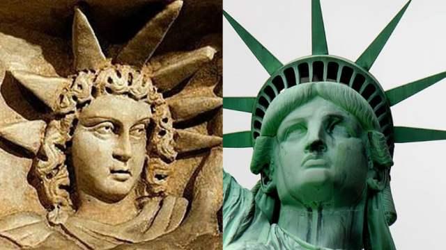 Статуя Свободы в США сделана по образу и подобию скифского бога?
