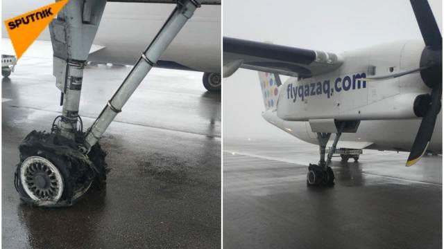 Шины лопнули у самолёта Qazaq Air при посадке в Алматы