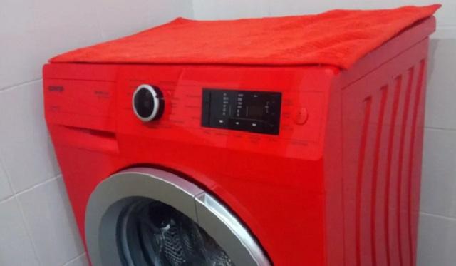Красная стиральная машина. Плюсы и минусы