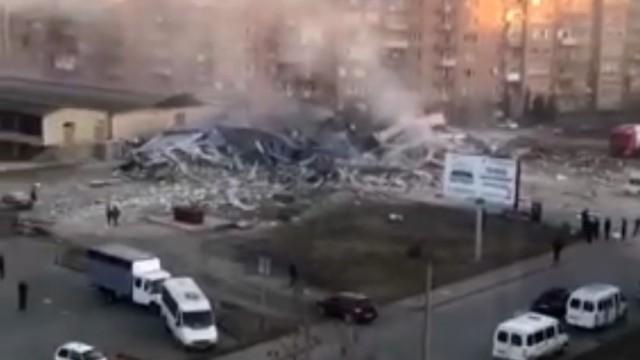 Во Владикавказе произошёл мощный взрыв в Магните