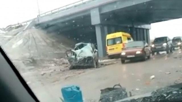 В столкновении с пассажирским автобусом погиб водитель Honda