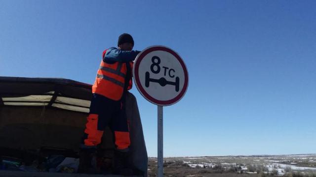 Ограничение для грузовиков введут на трассах Костанайской области