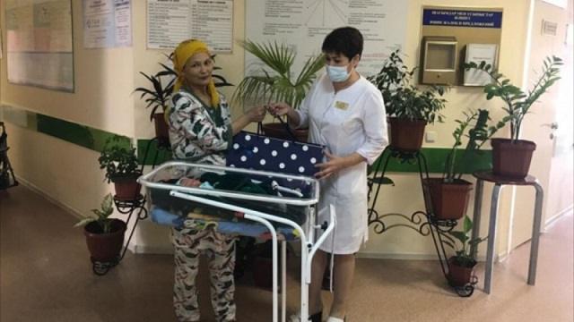 41-летняя казахстанка родила десятого ребенка