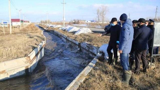 Аким Костанайской области ознакомился с паводковой ситуацией