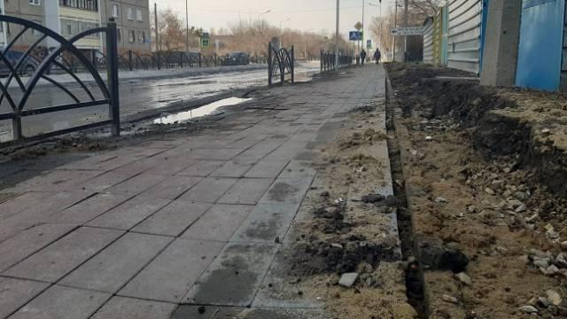 Весна обнажила все недоделки подрядчиков на улицах Костаная