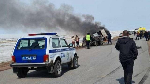 Страшное ДТП в Акмолинской области унесло жизни трех человек