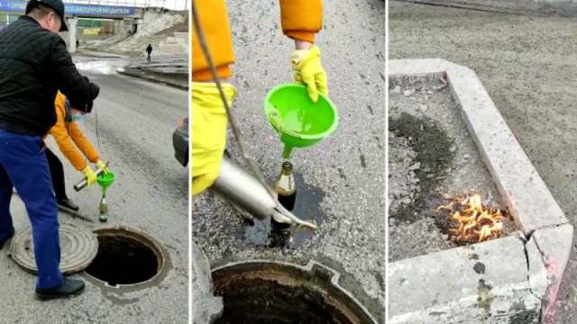 Почему горела вода из канализации в Костанае?
