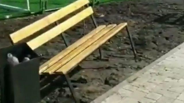 Про недоделки на детской площадке рассказала жительница Костаная