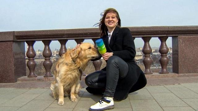 «Осталось выдать камеру»: Собака украла микрофон у журналистки