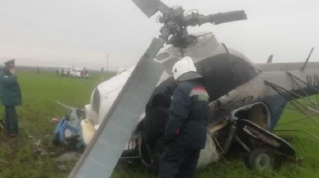 Вертолет потерпел крушение во время сельхозработ: Пилот погиб