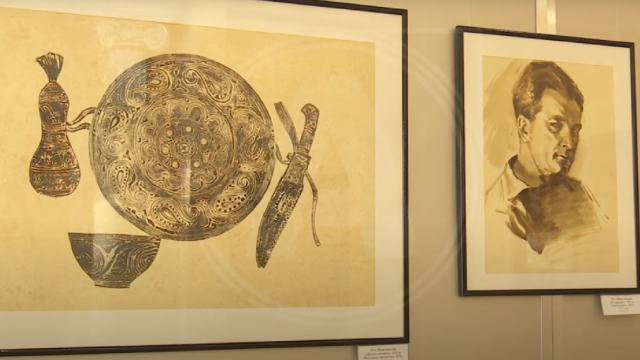 Выставка художника Николая Шишловского открылась в Костанае