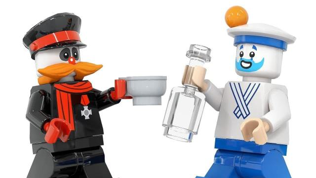 Художник представил проект «Деревня дураков» в стиле Lego