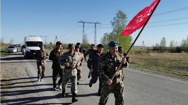 Марш-бросок в честь Дня Победы провели в Костанайской области