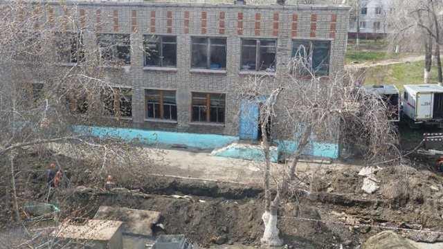 В школе № 18 Рудного продолжается капитальный ремонт