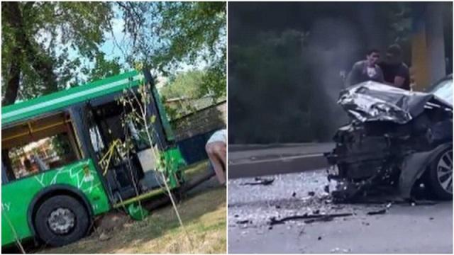 ДТП с участием автобуса в Алматы: Есть пострадавшие