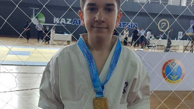 Костанаец Ибрагим Бухноев стал чемпионом Казахстана по каратэ