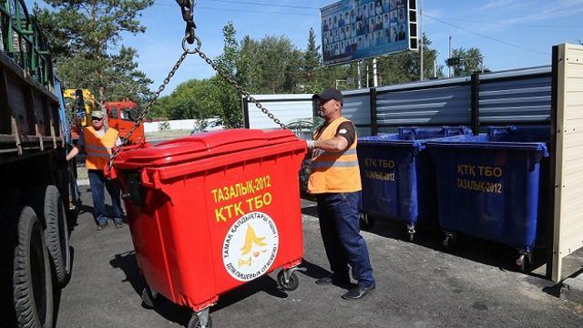 Евроконтейнеры для мусора ставят во дворах Костаная