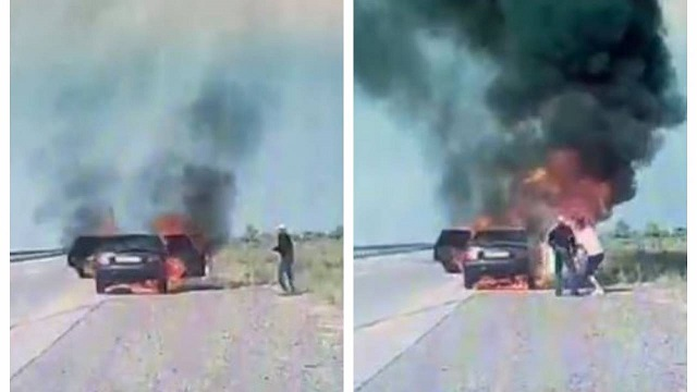 «Машины проезжали мимо». Две женщины сгорели заживо на трассе