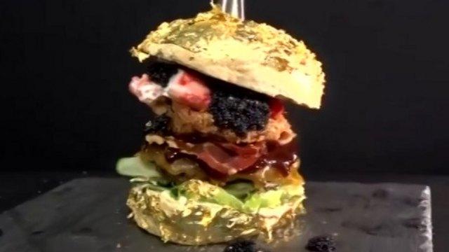 Видео: Самый дорогой бургер в мире продают за 2,5 млн тенге