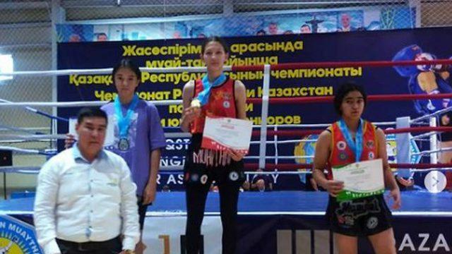 4 медали привезли костанайки с чемпионата Казахстана по муай тай