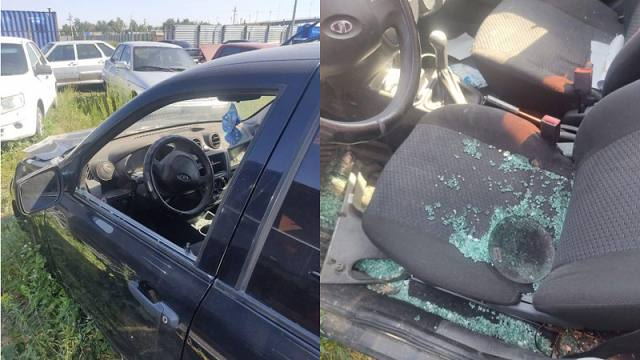 20 автомобилей испортили и обокрали на штрафстоянке в Костанае
