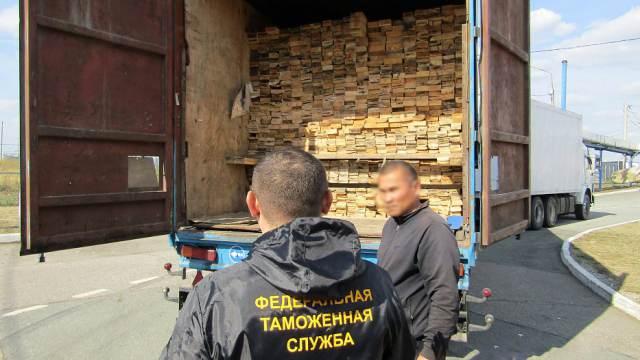 Контрабандная древесина не доехала до Костанайской области