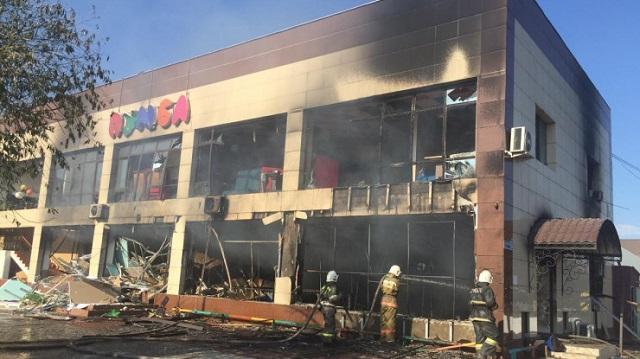 В детском развлекательном центре Кызылорды прогремел взрыв