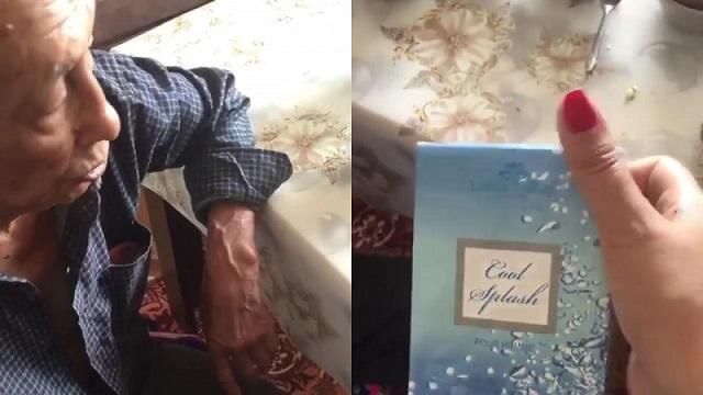 Видео: Пенсионера в отделении «Казпочты» заставили купить духи