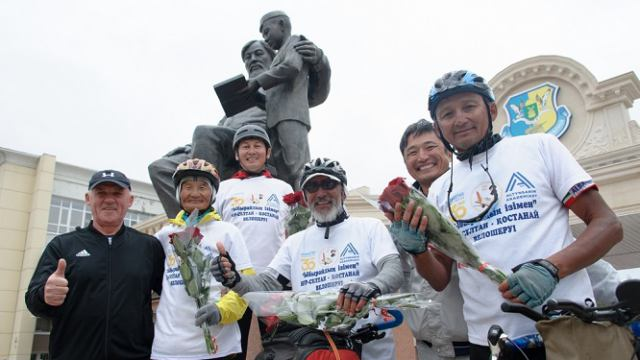 Велопробег памяти Ибрая Алтынсарина финишировал в Костанае