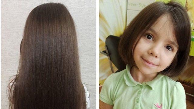 Девочка пожертвовала волосы на парики для больных раком детей
