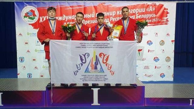 Два золота и бронза: Самбисты Костаная вернулись из Минска