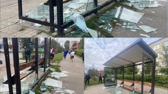Две нетрезвые жительницы Петропавловска разбили остановку