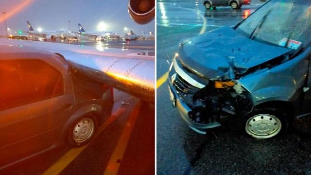 Самолет с футболистами «Кайрата» столкнулся с машиной в аэропорту