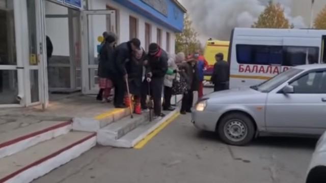 Видео: Дом престарелых загорелся в Карабалыке