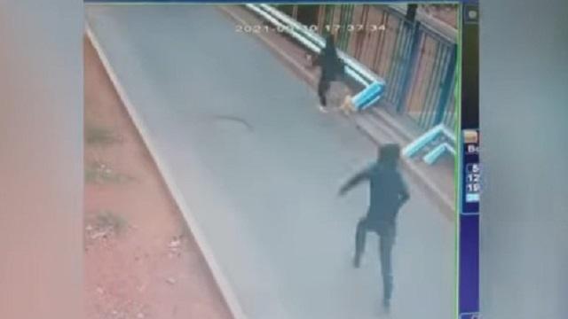 Преследование мужчиной девочки в Балхаше попало на видео