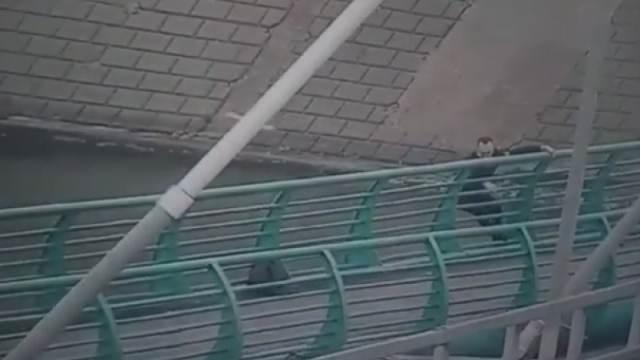 Видео: Беременная астанчанка прыгнула в реку